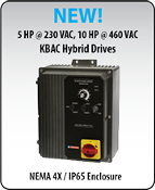 KBAC-217S Black (8863)  AC Drives,Nema 4x Inverter 5 HP, 230 Vac